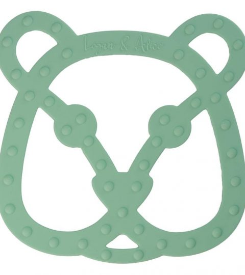 Logan Alice Beer Bijtfiguur Mint Teether Az